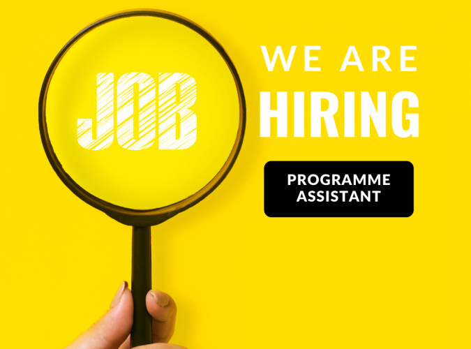 Job opening: Programme Assistant