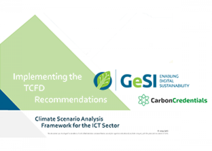 GeSI releases a new Climate Scenario Analysis Framework